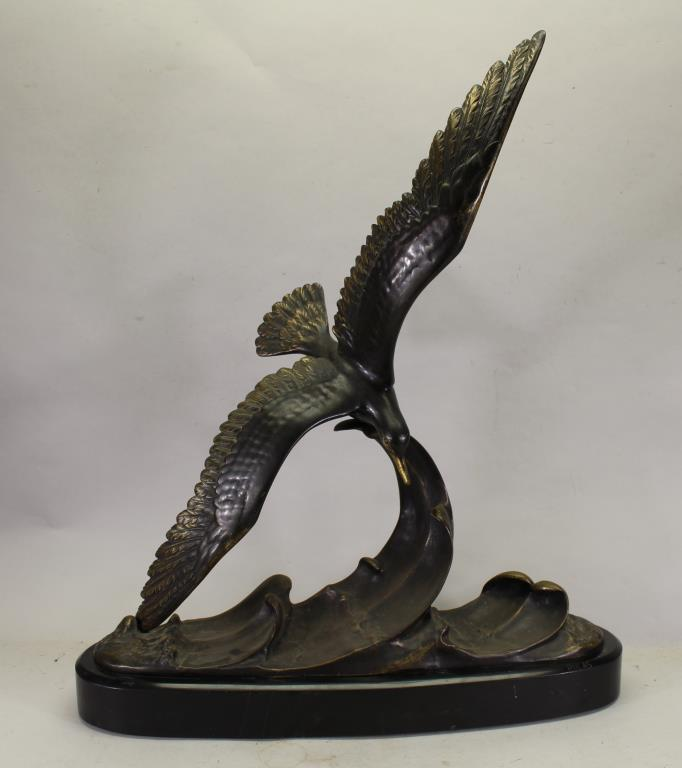 Bronze Seagull on Base, Signed