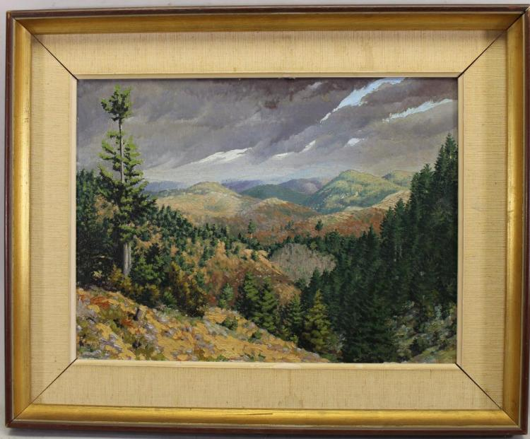 Krisovizzi, Signed Mountain Landscape. 20th C.