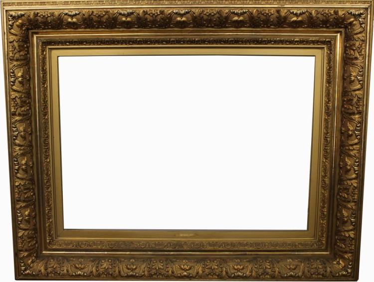Monumental Large Antique Gilt/Carved Frame