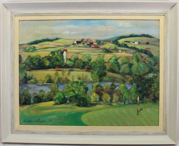 Esther Shapiro, (American,20th C) 1951 Golf Course