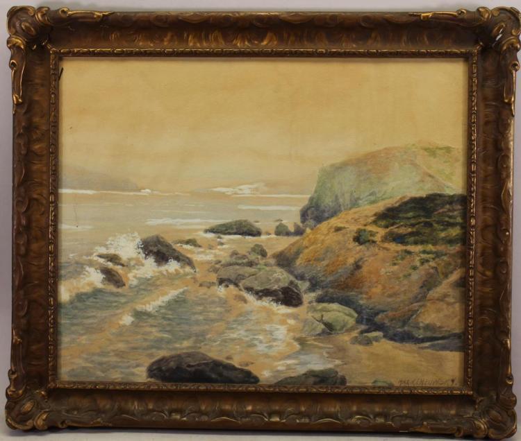 Early 20th C. California Coastal Scene, Signed