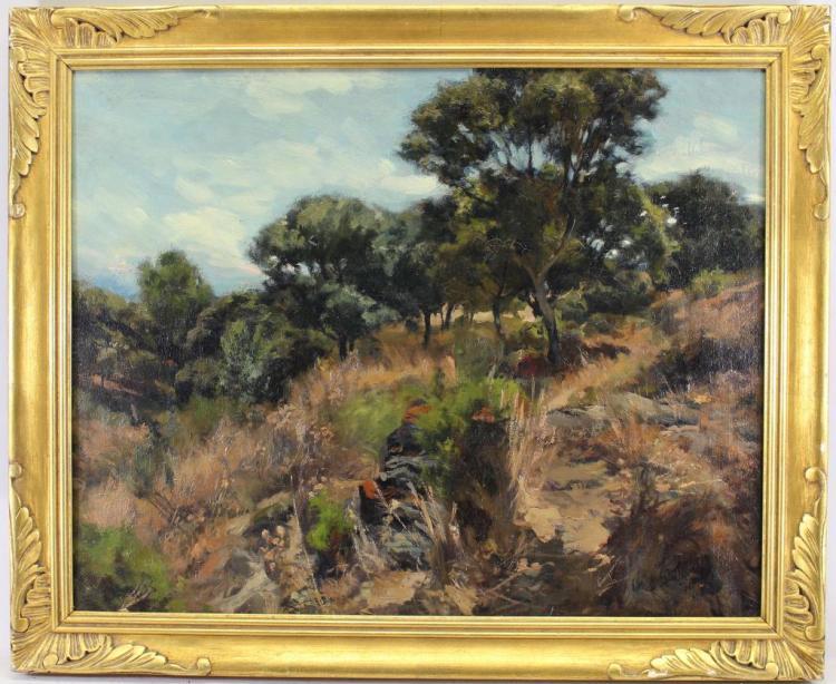 Signed, Antique Impressionist Landscape