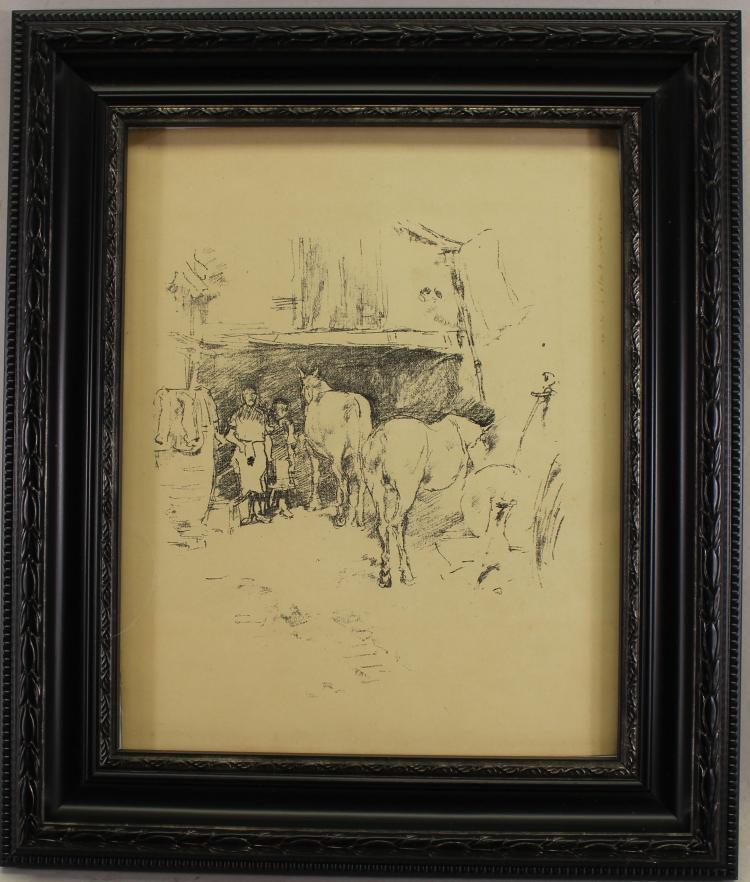 James Whistler (1834-1903) Lithograph