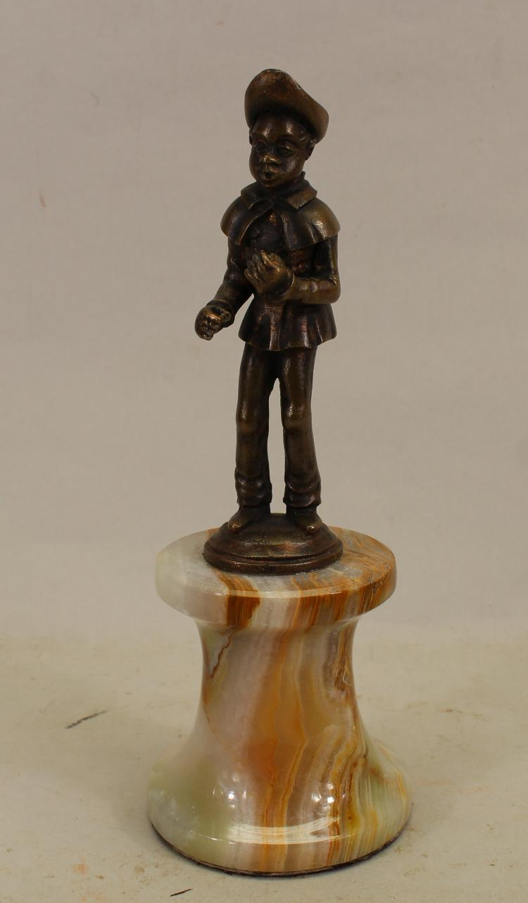 Black Americana Figure on Onyx Base