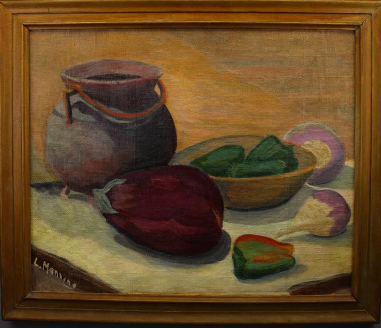 L. Manning, Signed Early 20th C Still Life