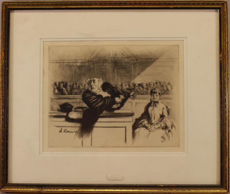 Honore Daumier (1808 - 1879) Etching