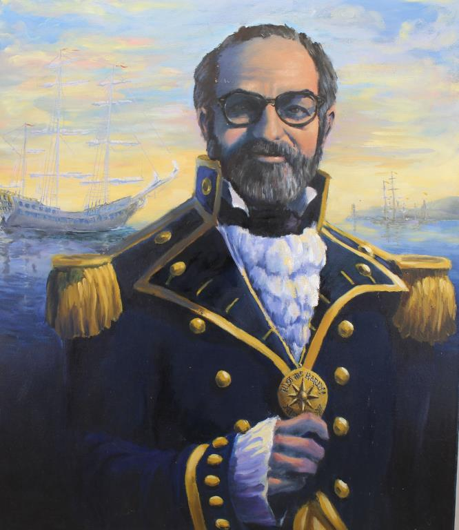 20th C. Portrait of a Yacht Club Commodore