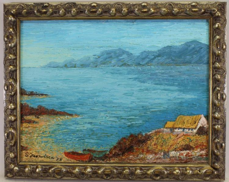 Irish Thatched Cottage, Connemara. Signed & Dated