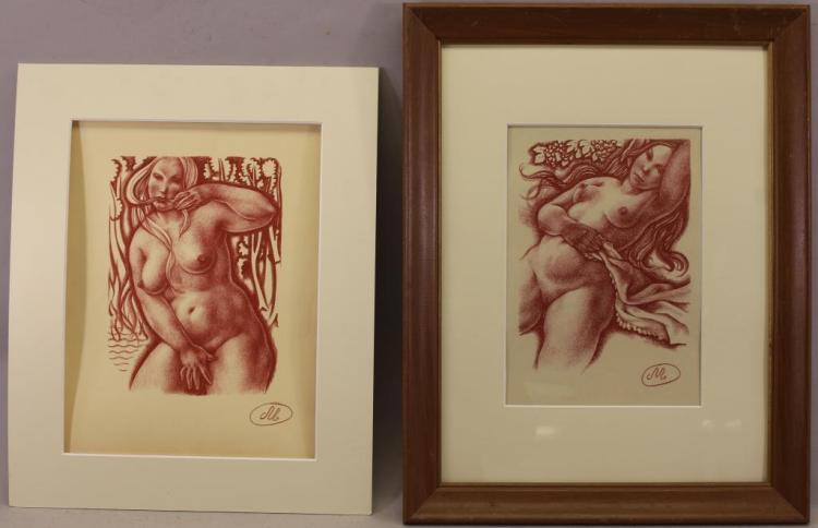 (2) Aristide Maillol Nude Prints