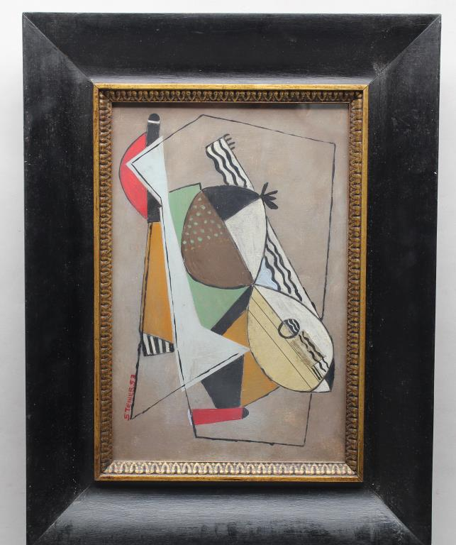 American School, Signed Abstract Composition