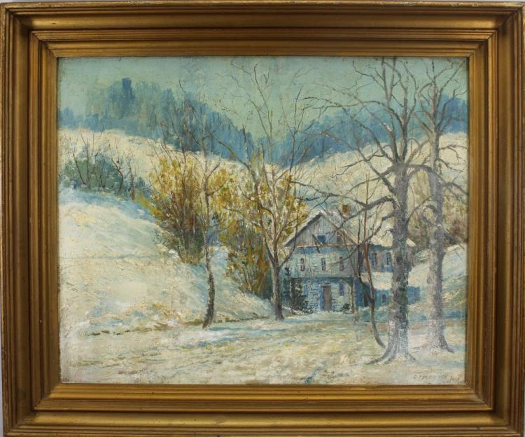 CJ Bertch 1926 New England Winter Landscape