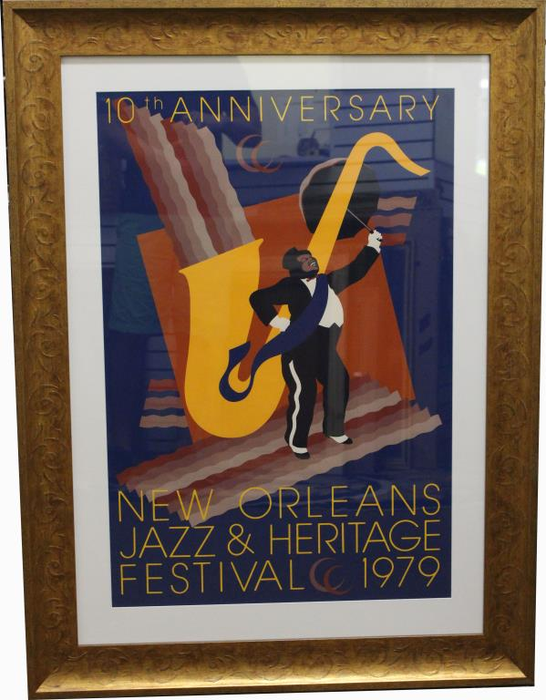 Large 10th Anniversary New Orleans Jazz Fest 1979