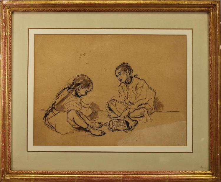 Alfred Dehodencq (1822 - 1882) Ex Christie's