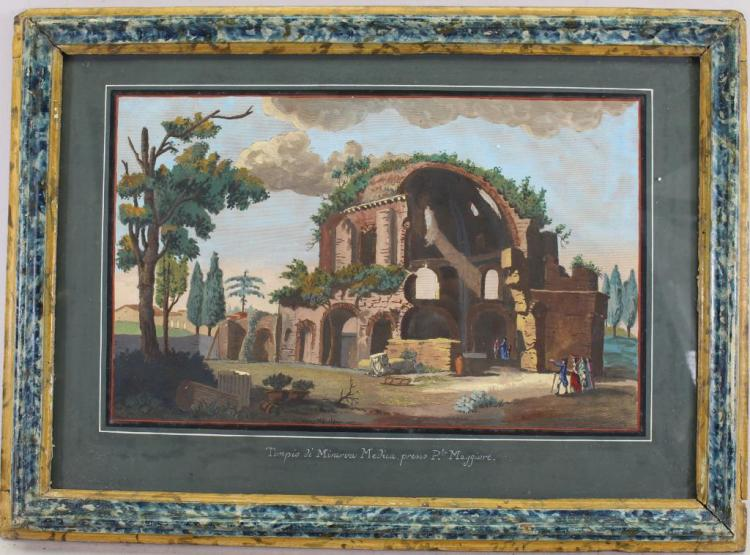 19th C. Painting of Ancient Roman Ruins