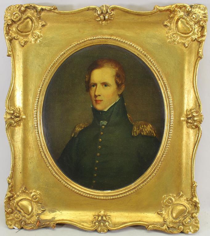 Antique Framed Print of Major Biddle