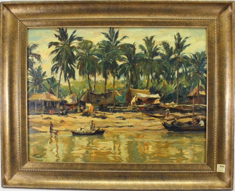 Hans Hayek (1869 - 1940) Indonesian River