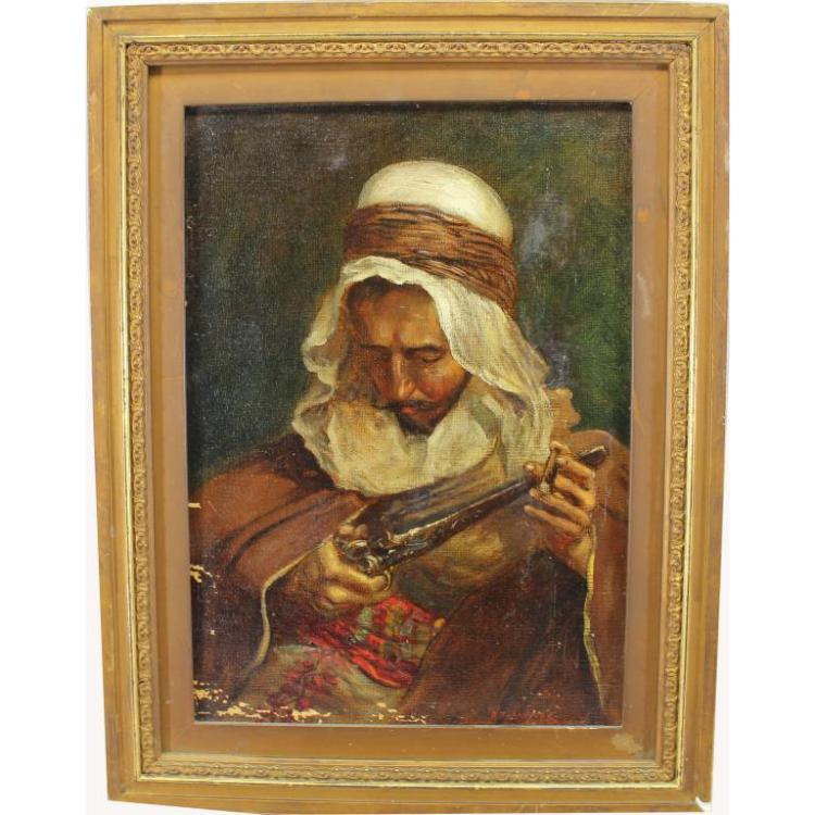 Addison Millar (1860 - 1913) Arab with Gun