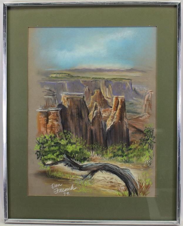 Signed, '79 Pastel Painting of the Grand Canyon