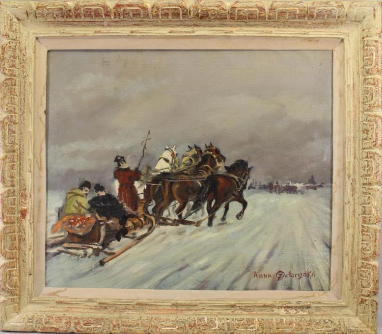 Anna Gzartoryska Russian Winter Landscape