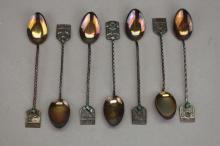 (7) Silver Souvenir Spoons