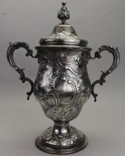 Antique English Sterling Silver Loving Cup
