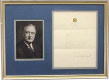 Franklin D. Roosevelt Signed Document
