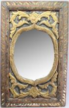 Antique Polychrome Mirror
