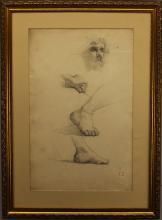 Eugene Delacroix  (1798 - 1863) Pencil Study