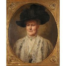 """FRITZ VON KAMPTZ (1866-1938) """"Figura di donna con cappello"""" - """"Figure of woman with hat"""""""