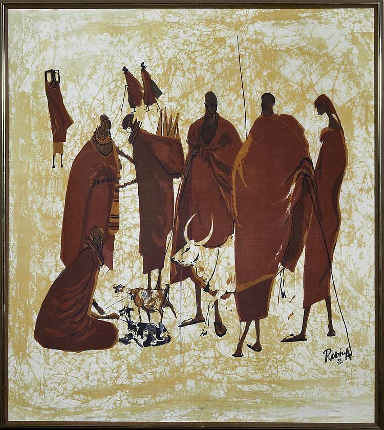 ROBIN ANDERSON - Untitled (African Batik)
