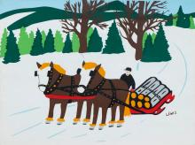 MAUD LEWIS - Untitled - Collecting Firewood
