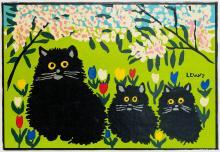 MAUD LEWIS - Untitled - Three Cats
