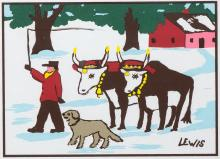 MAUD LEWIS - Untitled - Oxen