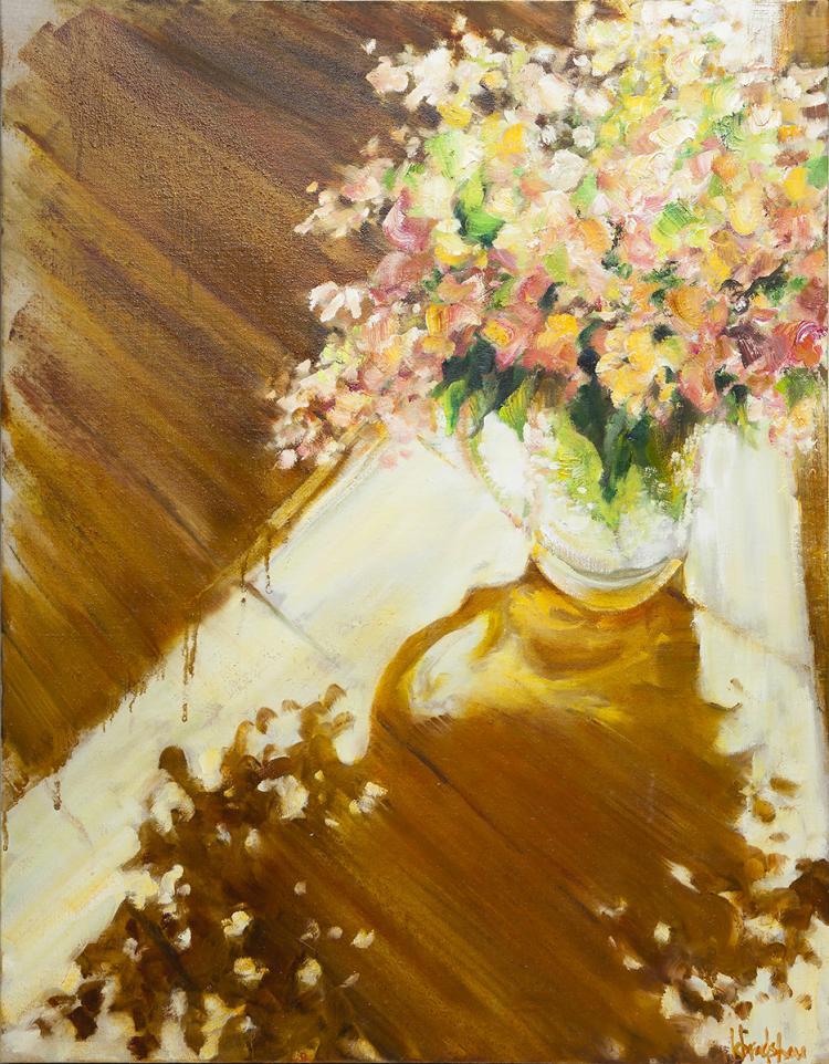 KATHY BRADSHAW - Hydrangeas in Glass Pitcher #2