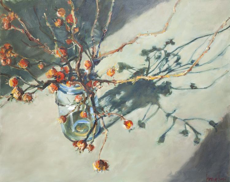 KATHY BRADSHAW - Rose Hips in a Mason Jar