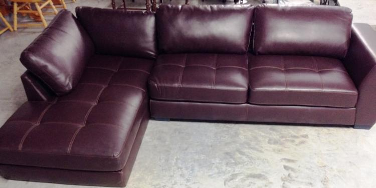 Sensational American Signature Leather Sectional Sofa Onthecornerstone Fun Painted Chair Ideas Images Onthecornerstoneorg