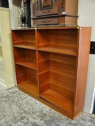 BOOKCASE - Large Stained Pine