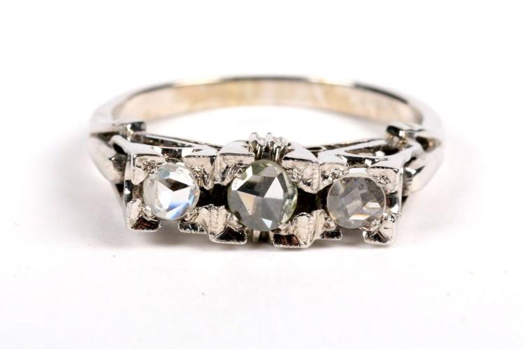 18ct white gold platinum ring