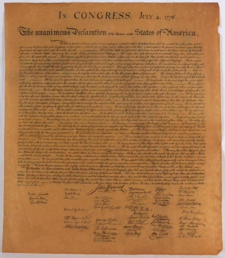 repition in the declaration of independence Declaration of independence by and for the support of this declaration  parallel structures & repetition = the author repeats the word 'that' frequently to.