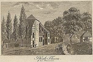 Drei Blätter mit Ansichten von Hannover um 1830