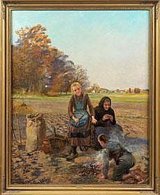 Karl Behm (1858 Güstrow - 1905 München) Rast bei