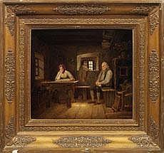 Carl Kreul (1804 Ansbach - 1867 Nürnberg) Lesendes