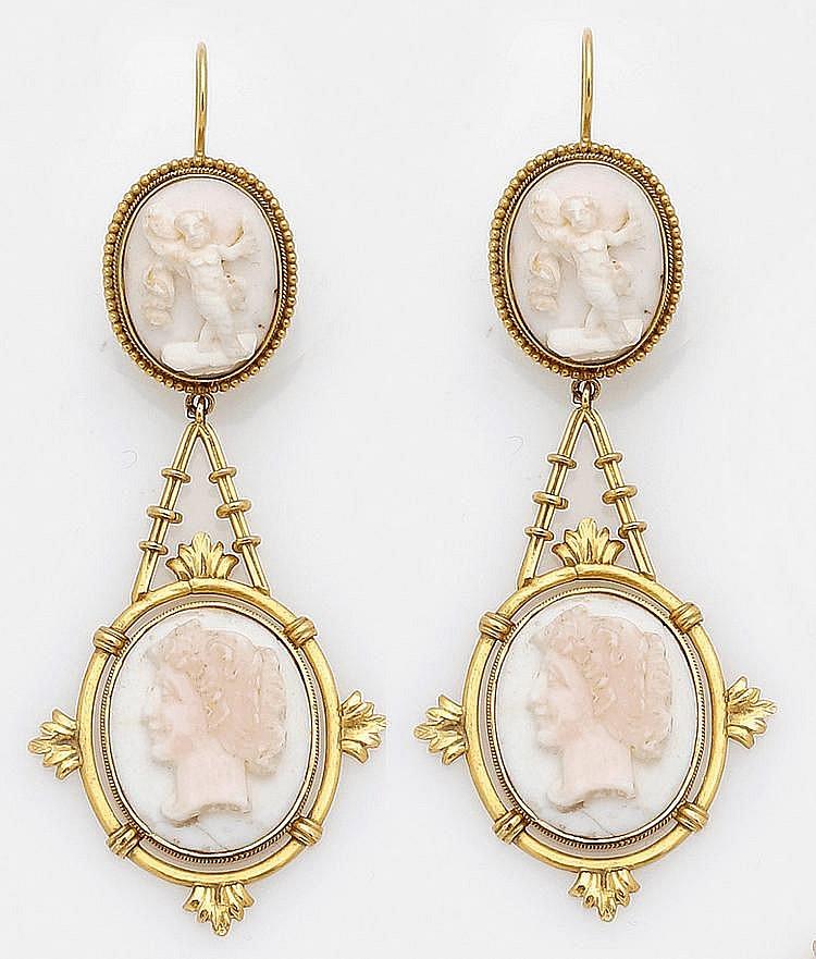 Paar viktorianische Ohrgehänge