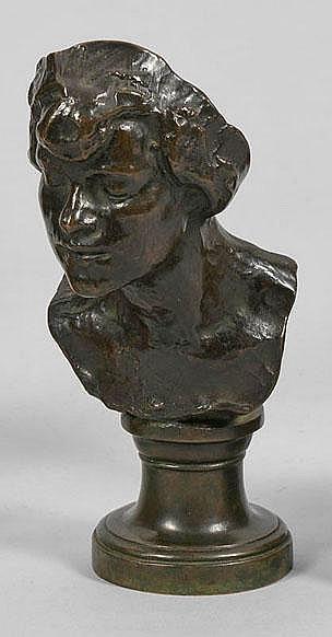 Eduard Beyrer (1866 München - 1934 ebenda) Büste