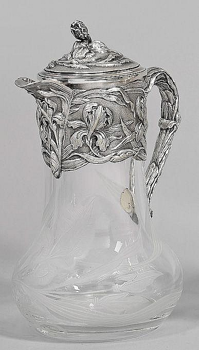 Große Kristallglas-Karaffe