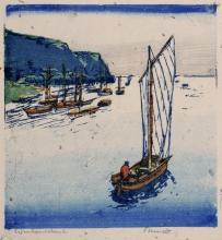 """Siegfried Berndt """"Auf der Reede II"""". Um 1911."""