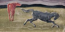 """Siegfried Berndt """"Rennende Pferde"""". 1921/ 1932."""