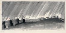 Siegfried Berndt, Regen im Osterzgebirge. 1944.