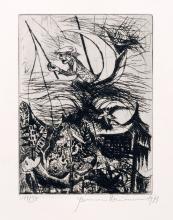 """Hermann Naumann, Vier Arbeiten zu Knut Hamsung """"Mysterien"""". 1973."""