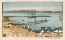 """Siegfried Berndt """"Der Hafen von Stranraer"""" (Schottland). 1909."""